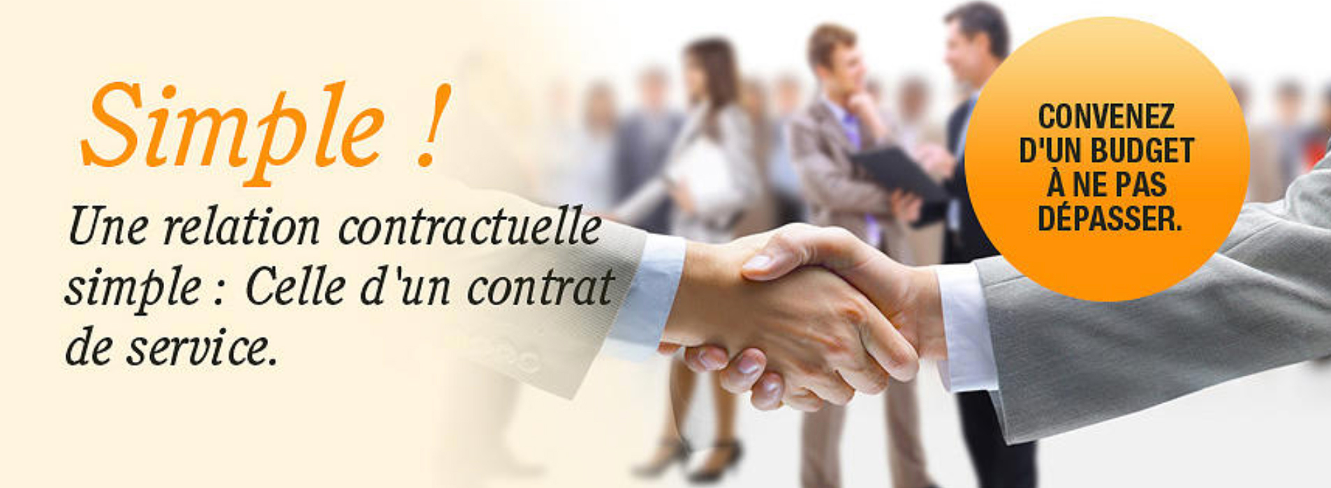 Simple ! Une relation contractuelle simple : Celle d'un contrat de service.